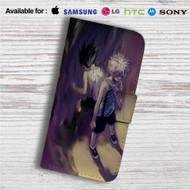Killua Zoldyck and Gon Freecss Hunter x Hunter Custom Leather Wallet iPhone 4/4S 5S/C 6/6S Plus 7  Samsung Galaxy S4 S5 S6 S7 Note 3 4 5  LG G2 G3 G4  Motorola Moto X X2 Nexus 6  Sony Z3 Z4 Mini  HTC ONE X M7 M8 M9 Case