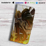 Levi Shingeki no Kyojin Custom Leather Wallet iPhone 4/4S 5S/C 6/6S Plus 7| Samsung Galaxy S4 S5 S6 S7 Note 3 4 5| LG G2 G3 G4| Motorola Moto X X2 Nexus 6| Sony Z3 Z4 Mini| HTC ONE X M7 M8 M9 Case