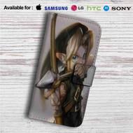 Link Zelda Arrow Custom Leather Wallet iPhone 4/4S 5S/C 6/6S Plus 7  Samsung Galaxy S4 S5 S6 S7 Note 3 4 5  LG G2 G3 G4  Motorola Moto X X2 Nexus 6  Sony Z3 Z4 Mini  HTC ONE X M7 M8 M9 Case