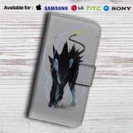 Luxray Pokemon Custom Leather Wallet iPhone 4/4S 5S/C 6/6S Plus 7  Samsung Galaxy S4 S5 S6 S7 Note 3 4 5  LG G2 G3 G4  Motorola Moto X X2 Nexus 6  Sony Z3 Z4 Mini  HTC ONE X M7 M8 M9 Case