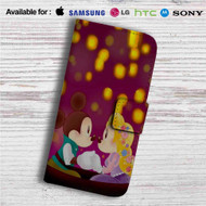 Mickey and Minnie as Flynn and Rapunzel Custom Leather Wallet iPhone 4/4S 5S/C 6/6S Plus 7| Samsung Galaxy S4 S5 S6 S7 Note 3 4 5| LG G2 G3 G4| Motorola Moto X X2 Nexus 6| Sony Z3 Z4 Mini| HTC ONE X M7 M8 M9 Case