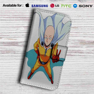 Saitama Sensei One Punch Man Custom Leather Wallet iPhone 4/4S 5S/C 6/6S Plus 7| Samsung Galaxy S4 S5 S6 S7 Note 3 4 5| LG G2 G3 G4| Motorola Moto X X2 Nexus 6| Sony Z3 Z4 Mini| HTC ONE X M7 M8 M9 Case