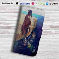 Sasuke Uchiha Naruto Shippuden Custom Leather Wallet iPhone 4/4S 5S/C 6/6S Plus 7| Samsung Galaxy S4 S5 S6 S7 Note 3 4 5| LG G2 G3 G4| Motorola Moto X X2 Nexus 6| Sony Z3 Z4 Mini| HTC ONE X M7 M8 M9 Case