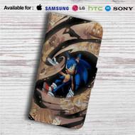 Sonic The Hedgehog Custom Leather Wallet iPhone 4/4S 5S/C 6/6S Plus 7| Samsung Galaxy S4 S5 S6 S7 Note 3 4 5| LG G2 G3 G4| Motorola Moto X X2 Nexus 6| Sony Z3 Z4 Mini| HTC ONE X M7 M8 M9 Case
