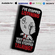 Stewie Family Guy Custom Leather Wallet iPhone 4/4S 5S/C 6/6S Plus 7| Samsung Galaxy S4 S5 S6 S7 Note 3 4 5| LG G2 G3 G4| Motorola Moto X X2 Nexus 6| Sony Z3 Z4 Mini| HTC ONE X M7 M8 M9 Case