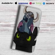 Stitch and Toothless Custom Leather Wallet iPhone 4/4S 5S/C 6/6S Plus 7| Samsung Galaxy S4 S5 S6 S7 Note 3 4 5| LG G2 G3 G4| Motorola Moto X X2 Nexus 6| Sony Z3 Z4 Mini| HTC ONE X M7 M8 M9 Case