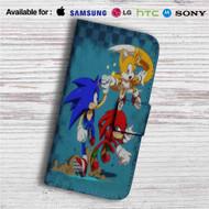 Team Sonic The Hedgehog Custom Leather Wallet iPhone 4/4S 5S/C 6/6S Plus 7| Samsung Galaxy S4 S5 S6 S7 Note 3 4 5| LG G2 G3 G4| Motorola Moto X X2 Nexus 6| Sony Z3 Z4 Mini| HTC ONE X M7 M8 M9 Case