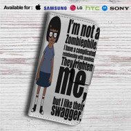 Tina Belcher I am Not Zombiephile Custom Leather Wallet iPhone 4/4S 5S/C 6/6S Plus 7| Samsung Galaxy S4 S5 S6 S7 Note 3 4 5| LG G2 G3 G4| Motorola Moto X X2 Nexus 6| Sony Z3 Z4 Mini| HTC ONE X M7 M8 M9 Case