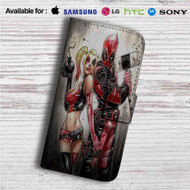 Wade Harley Deadpool Harley Quinn Custom Leather Wallet iPhone 4/4S 5S/C 6/6S Plus 7| Samsung Galaxy S4 S5 S6 S7 Note 3 4 5| LG G2 G3 G4| Motorola Moto X X2 Nexus 6| Sony Z3 Z4 Mini| HTC ONE X M7 M8 M9 Case