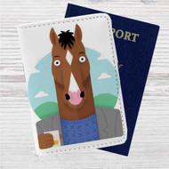 BoJack Horseman Drink Custom Leather Passport Wallet Case Cover