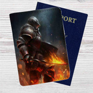 Dark Souls 3 Fire Custom Leather Passport Wallet Case Cover