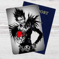 Death Note With Apple Custom Leather Passport Wallet Case Cover