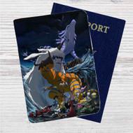 Digimon Adventure Tri Custom Leather Passport Wallet Case Cover