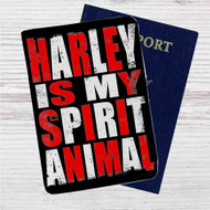 Harley Quinn is my Spirit Animal Custom Leather Passport Wallet Case Cover