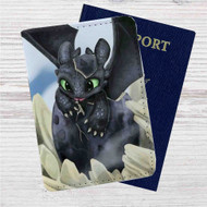 How To Train Your Dragon Toothless Custom Leather Passport Wallet Case Cover
