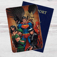 Justice League Identity Crisis Custom Leather Passport Wallet Case Cover