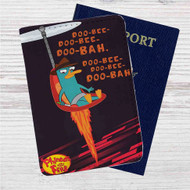 Phineas and Ferb Custom Leather Passport Wallet Case Cover