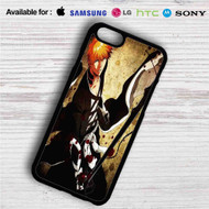 Kurosaki Ichigo Bleach iPhone 4/4S 5 S/C/SE 6/6S Plus 7| Samsung Galaxy S4 S5 S6 S7 NOTE 3 4 5| LG G2 G3 G4| MOTOROLA MOTO X X2 NEXUS 6| SONY Z3 Z4 MINI| HTC ONE X M7 M8 M9 M8 MINI CASE