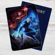 Scarlet Witch & Quicksilver The Avengers Custom Leather Passport Wallet Case Cover