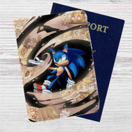 Sonic The Hedgehog Custom Leather Passport Wallet Case Cover