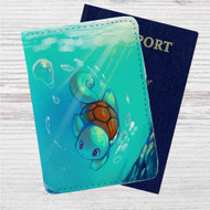 Squirtle Pokemon Custom Leather Passport Wallet Case Cover