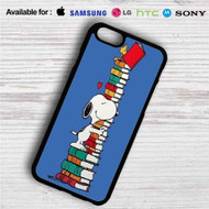 Snoopy and Woodstock Reading Book iPhone 4/4S 5 S/C/SE 6/6S Plus 7| Samsung Galaxy S4 S5 S6 S7 NOTE 3 4 5| LG G2 G3 G4| MOTOROLA MOTO X X2 NEXUS 6| SONY Z3 Z4 MINI| HTC ONE X M7 M8 M9 M8 MINI CASE