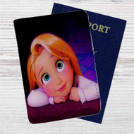 Tangled Rapunzel Child Custom Leather Passport Wallet Case Cover