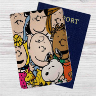 The Peanuts Gang Custom Leather Passport Wallet Case Cover