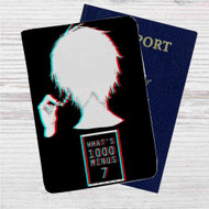 Tokyo Ghoul What's 100 Minus 7 Custom Leather Passport Wallet Case Cover