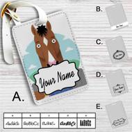BoJack Horseman Drink Custom Leather Luggage Tag