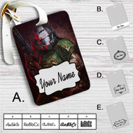 Doom Marine Custom Leather Luggage Tag