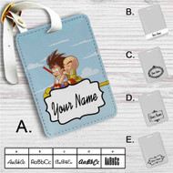 Goku and Kuririn Kintoun Dragon Ball Custom Leather Luggage Tag