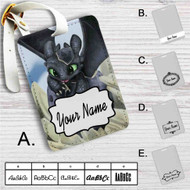 How To Train Your Dragon Toothless Custom Leather Luggage Tag