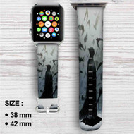 Batman Dark Knight Mr Wayne Custom Apple Watch Band Leather Strap Wrist Band Replacement 38mm 42mm