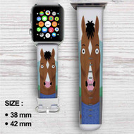 BoJack Horseman Drink Custom Apple Watch Band Leather Strap Wrist Band Replacement 38mm 42mm