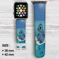 Disney Stitch Custom Apple Watch Band Leather Strap Wrist Band Replacement 38mm 42mm