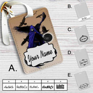 Raven DC Comics Custom Leather Luggage Tag