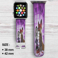Doctor Who Zootopia Disney Custom Apple Watch Band Leather Strap Wrist Band Replacement 38mm 42mm