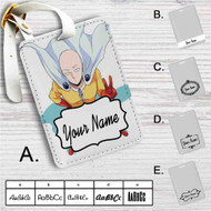 Saitama Sensei One Punch Man Custom Leather Luggage Tag