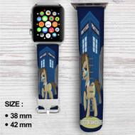 Doctor Whooves My Little Pony Custom Apple Watch Band Leather Strap Wrist Band Replacement 38mm 42mm