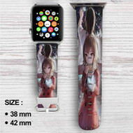 Erased Kayo Hinazuki Satoru Fujinuma Custom Apple Watch Band Leather Strap Wrist Band Replacement 38mm 42mm