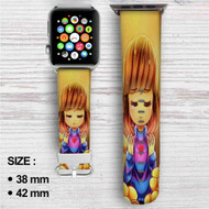 Frisk and Flowley Undertale Custom Apple Watch Band Leather Strap Wrist Band Replacement 38mm 42mm