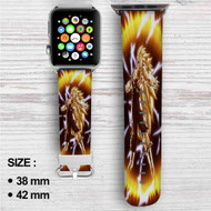 Goku Super Saiyan 3 Dragon Ball Z Custom Apple Watch Band Leather Strap Wrist Band Replacement 38mm 42mm