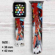 Gunner Yoko Gurren Lagann Custom Apple Watch Band Leather Strap Wrist Band Replacement 38mm 42mm