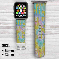 Homer The Simpsons Tie Die Custom Apple Watch Band Leather Strap Wrist Band Replacement 38mm 42mm