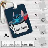 Stitch in Pokedex Ball Custom Leather Luggage Tag