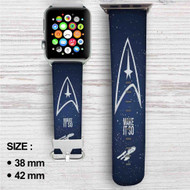 Star Trek Make it So Custom Apple Watch Band Leather Strap Wrist Band Replacement 38mm 42mm