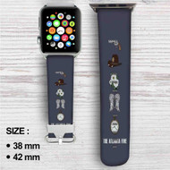 The Walking Dead Rick Grimes Carl Grimes Carol Peletier Daryl Di Custom Apple Watch Band Leather Strap Wrist Band Replacement 38mm 42mm