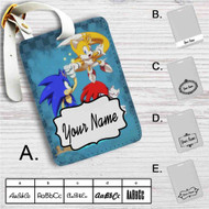 Team Sonic The Hedgehog Custom Leather Luggage Tag