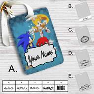 Team Sonic The Hedgehog Custom Leather Luggage Tag